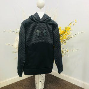 Under Armour black/gray pullover hoodie youth S